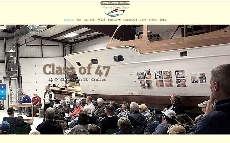 Class of 47 subdomain for Howard Classic Boats