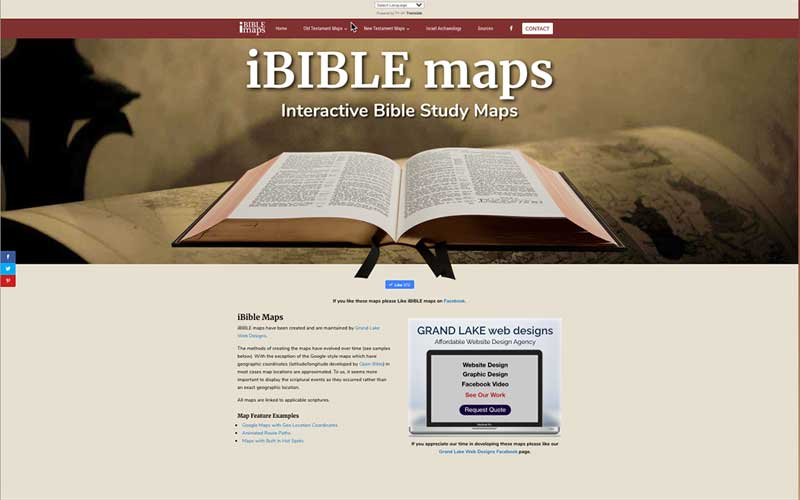 iBible Maps is now multi language